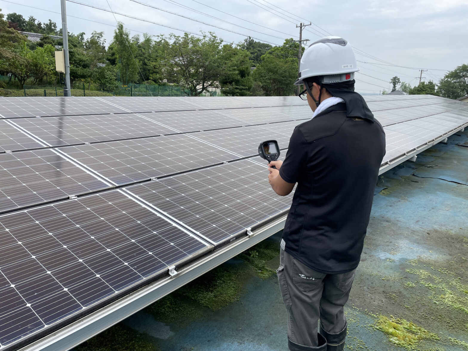 三重県鈴鹿市太陽光発電所定期巡回