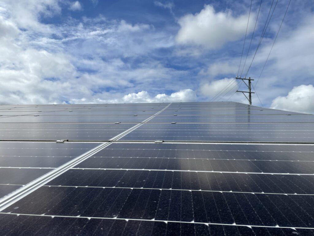 三重県いなべ市大安町太陽光発電所草刈り作業